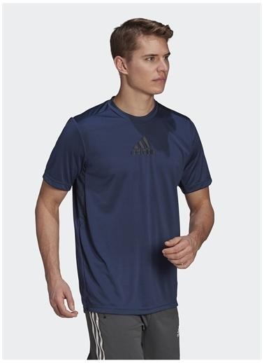 adidas adidas GM2129 M 3S BACK TEE Erkek T-Shirt Mavi